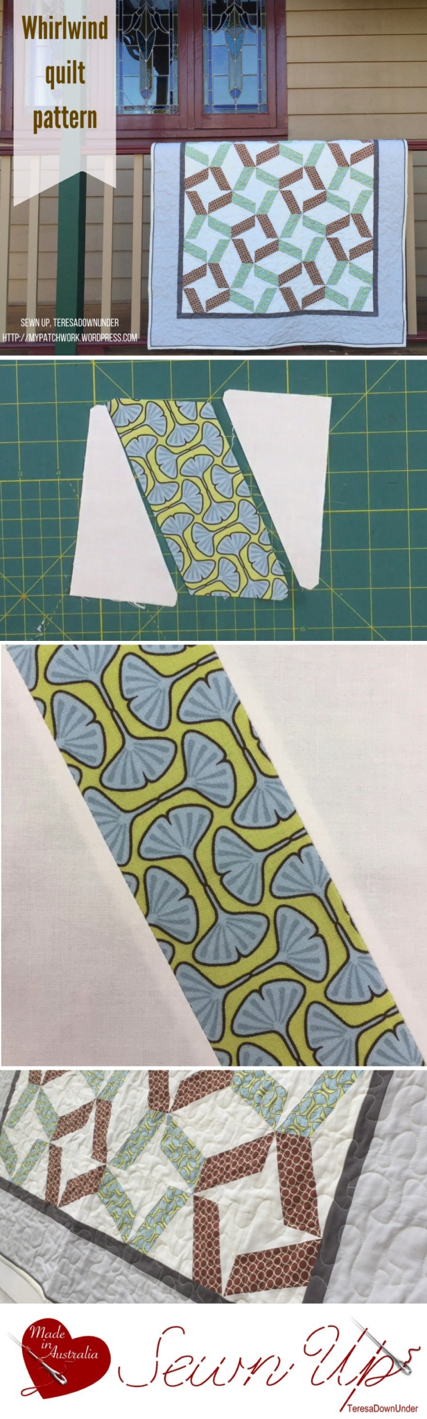 Quilt Pattern: Whirlwind quilt - traditional piecing. Quick and easy quilt