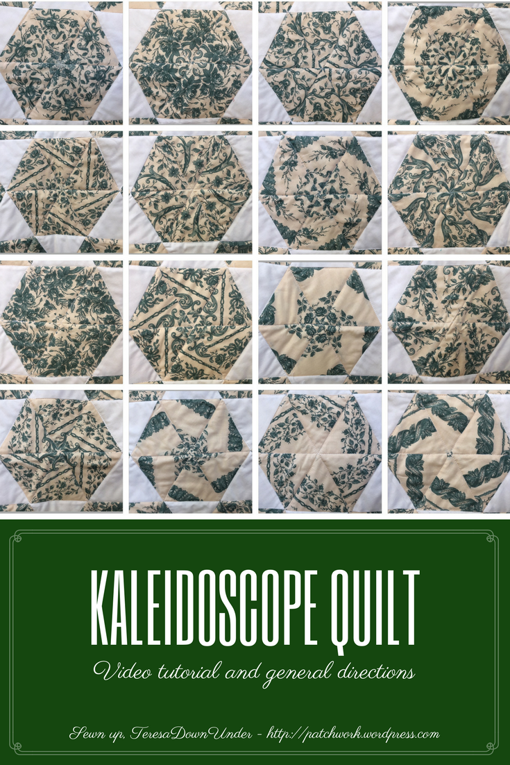 Kaleidoscope Quilt One Block Wonder Sewn Up