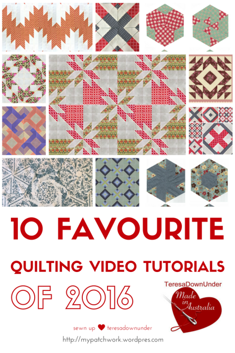 10 favorite quilting video tutorials of 2016 Sewn up TeresaDownUnder