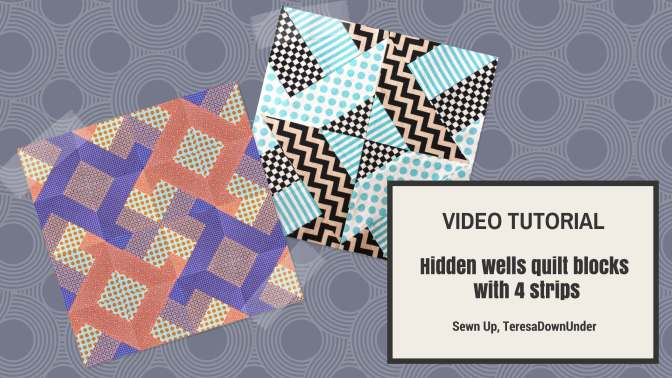 Video tutorial: Hidden wells quilting technique