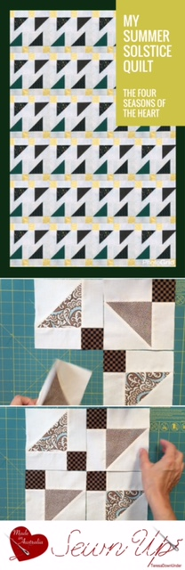 Quilt pattern: The four seasons of the heart - 1 pattern 4 quilts