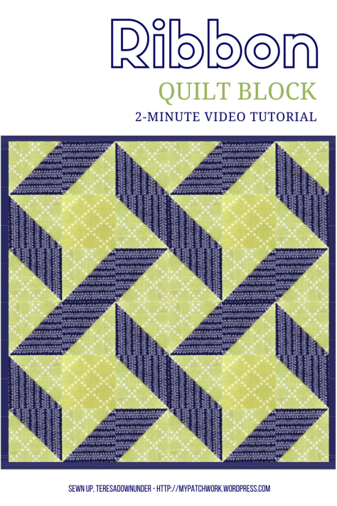 2-minute video tutorial: Ribbon quilt block