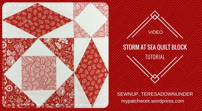 Video tutorial: Storm at sea quilt block – version 1