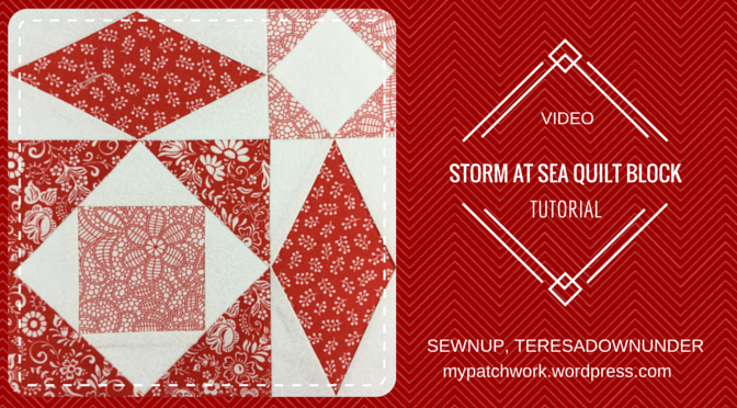Video tutorial: Storm at sea quilt block