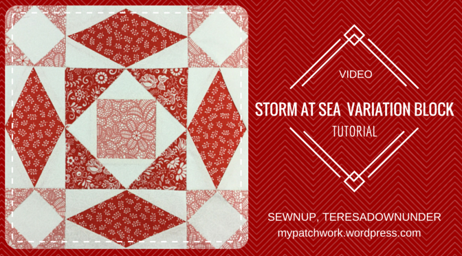 Video tutorial: Double Storm at sea quilt block – variation 2