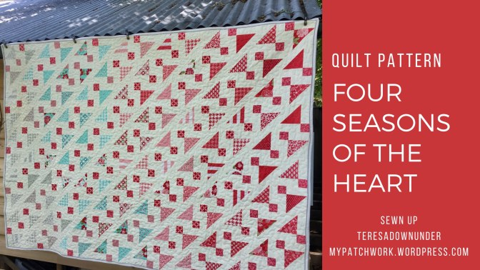 Quilt pattern: The four seasons of the heart – 1 pattern 4 quilts