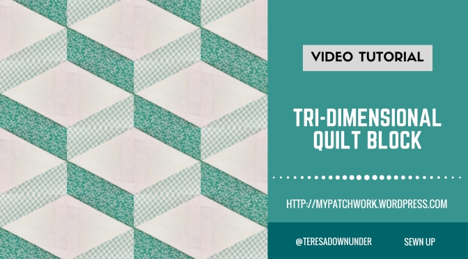Video tutorial Tridimensional quilt block – easy quilting