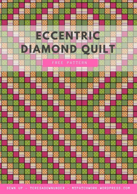 Free mini pattern: Eccentric diamond quilt