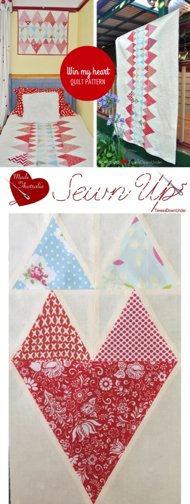 Quilt pattern: Win my heart - quick and easy quilt pattern for beginners
