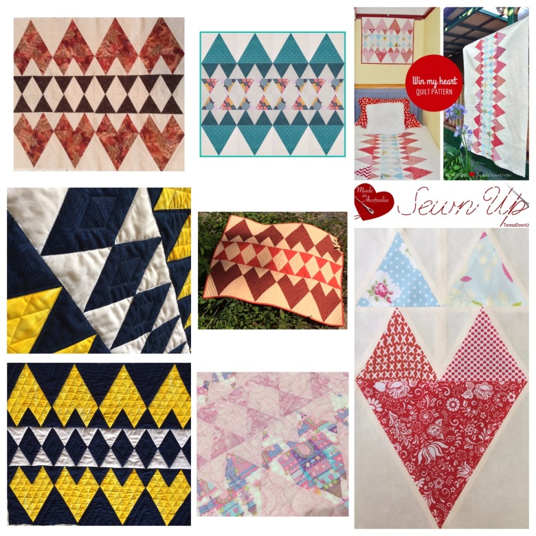 Quilt pattern: Win my heart - easy quilt for confident beginners