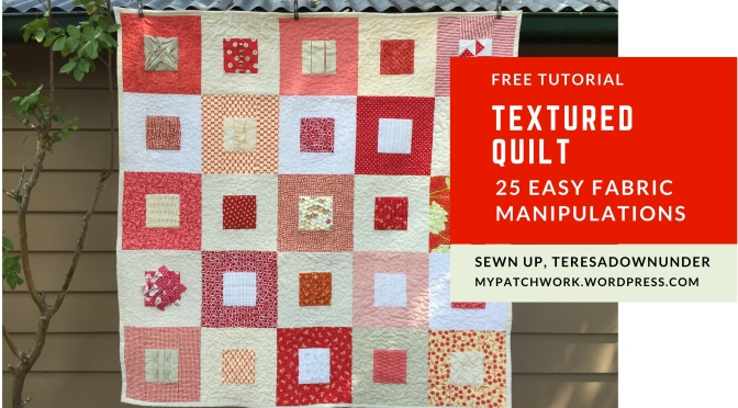 Video: Textured quilt sampler – 25 fabric manipulations