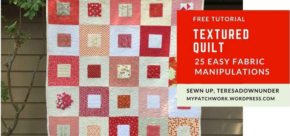 Textured quilt - 25 free tutorials