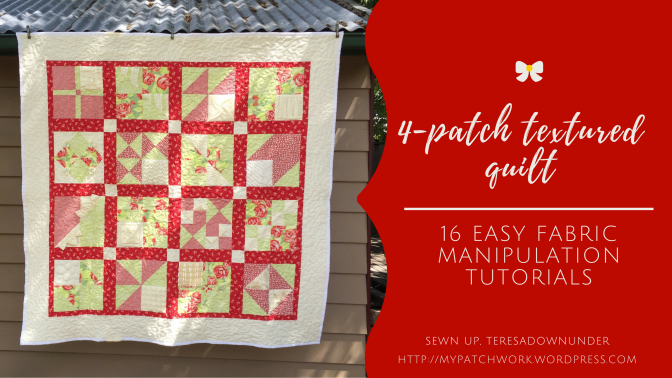 Video: Textured 4-patch quilt – free tutorials
