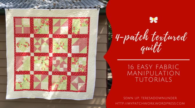Video: Textured 4-patch quilt