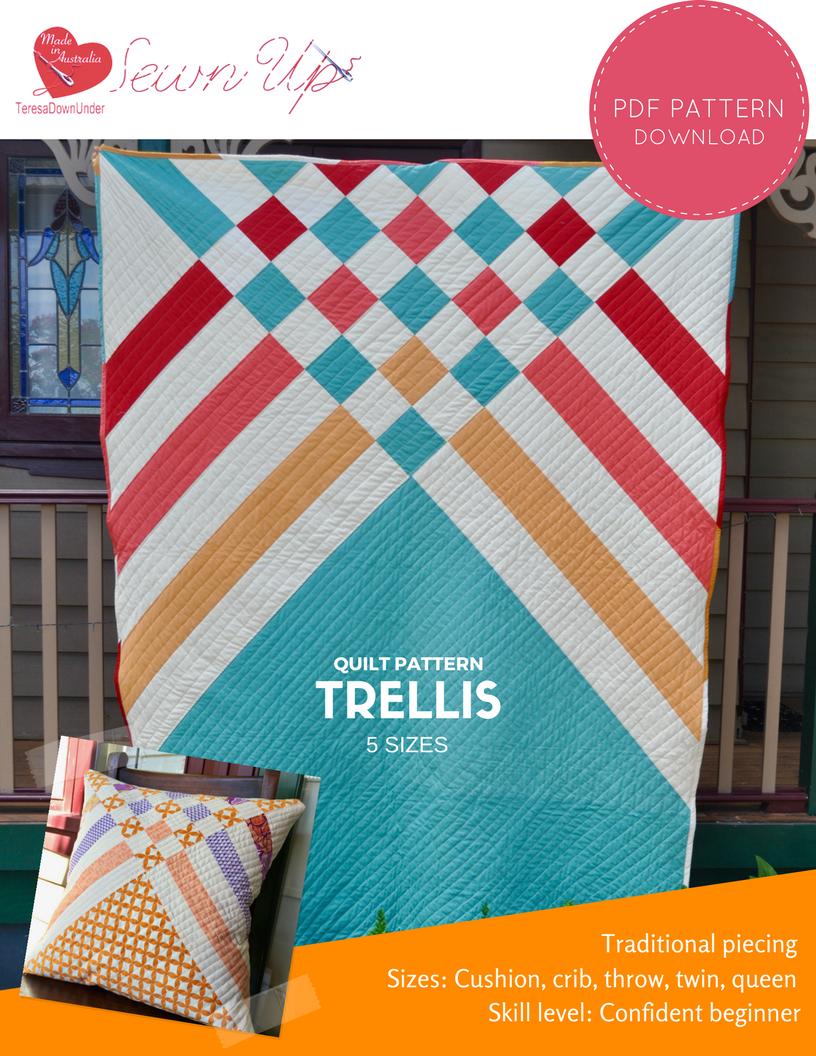 Quilt pattern: Trellis – beginner modern quilt | Sewn Up