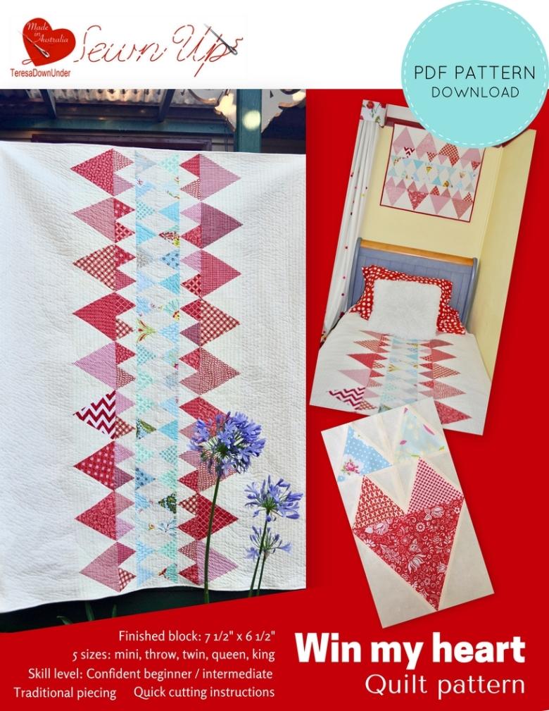 Win my heart quilt pattern - confident beginner pattern