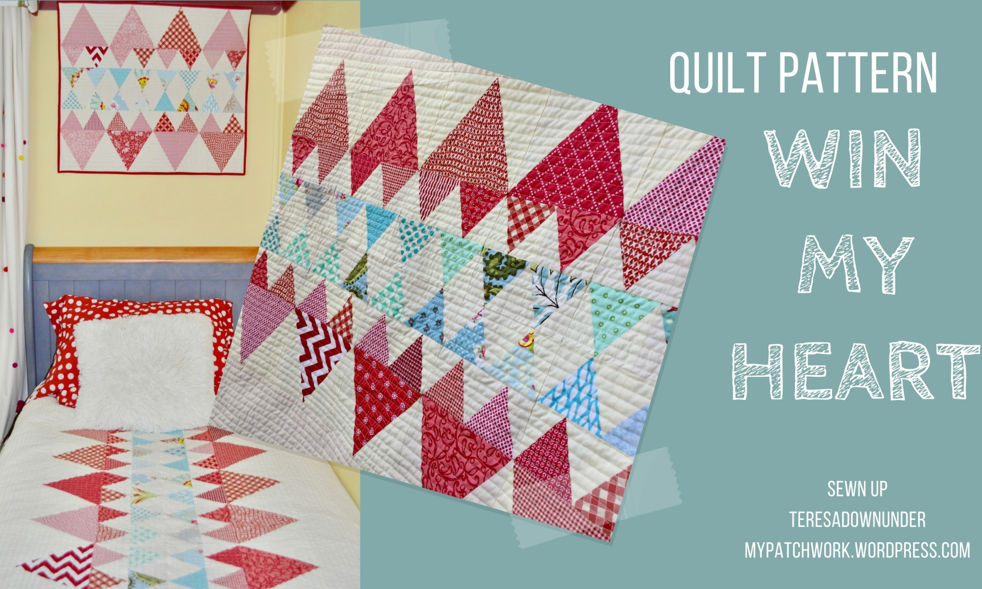 Quilt pattern: Win my heart - beginner quilt