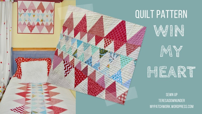 Quilt pattern: Win my heart - beginner quilt