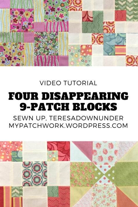 Video tutorial: learn to make 4 disappearing 9-patch blocks in 3 minutes