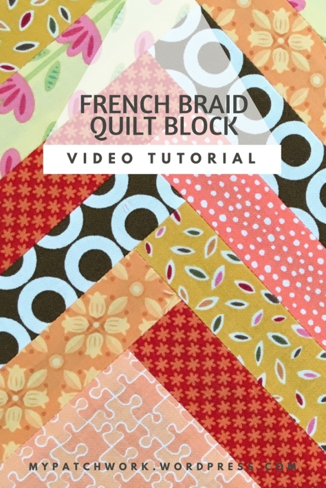 2-minute video: French braid quilt block