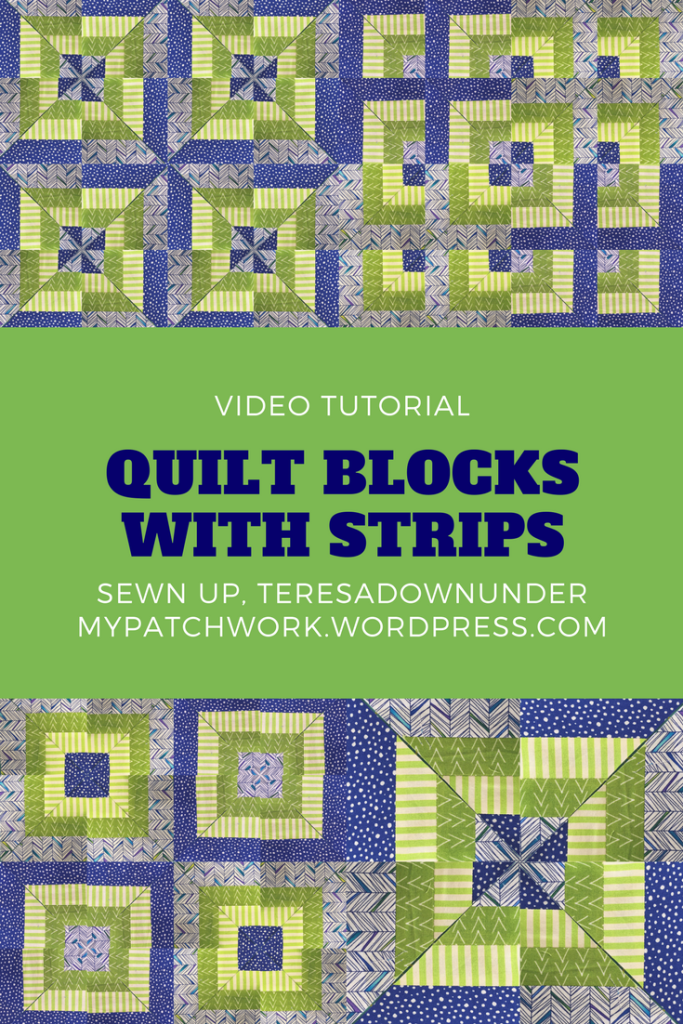 Quilt blocks with strips video tutorial