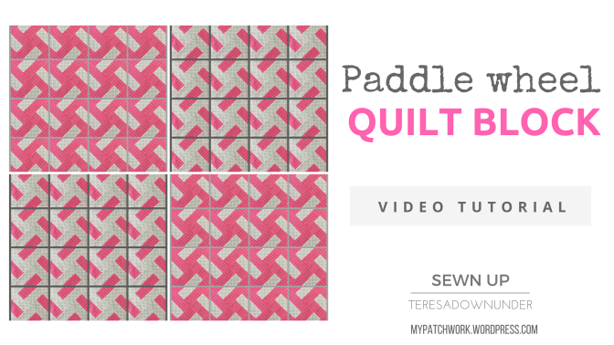 Video tutorial: quick and easy paddle wheel quilt block