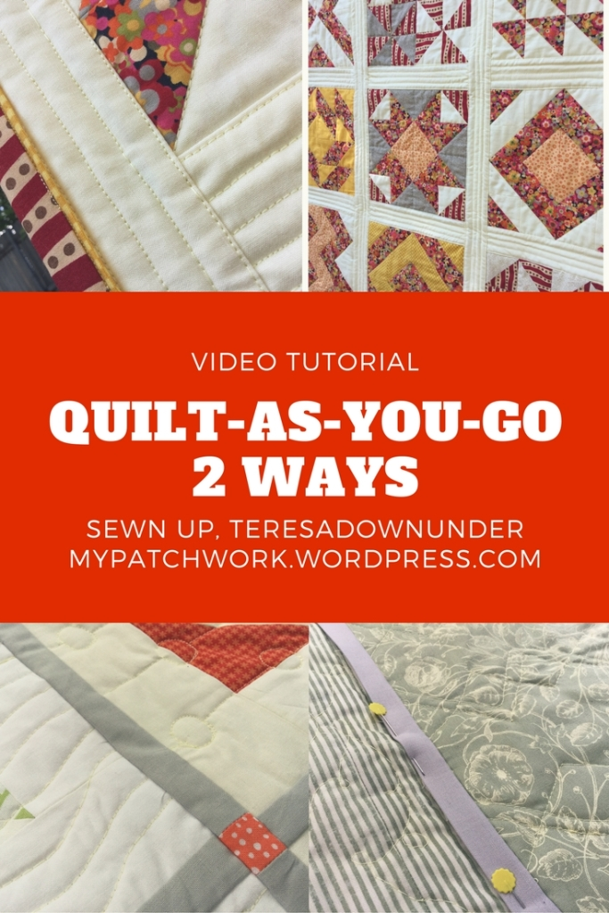 Video tutorial: Quilt-as-you-go (QAYG) 2 ways - quick and easy quilting techniques