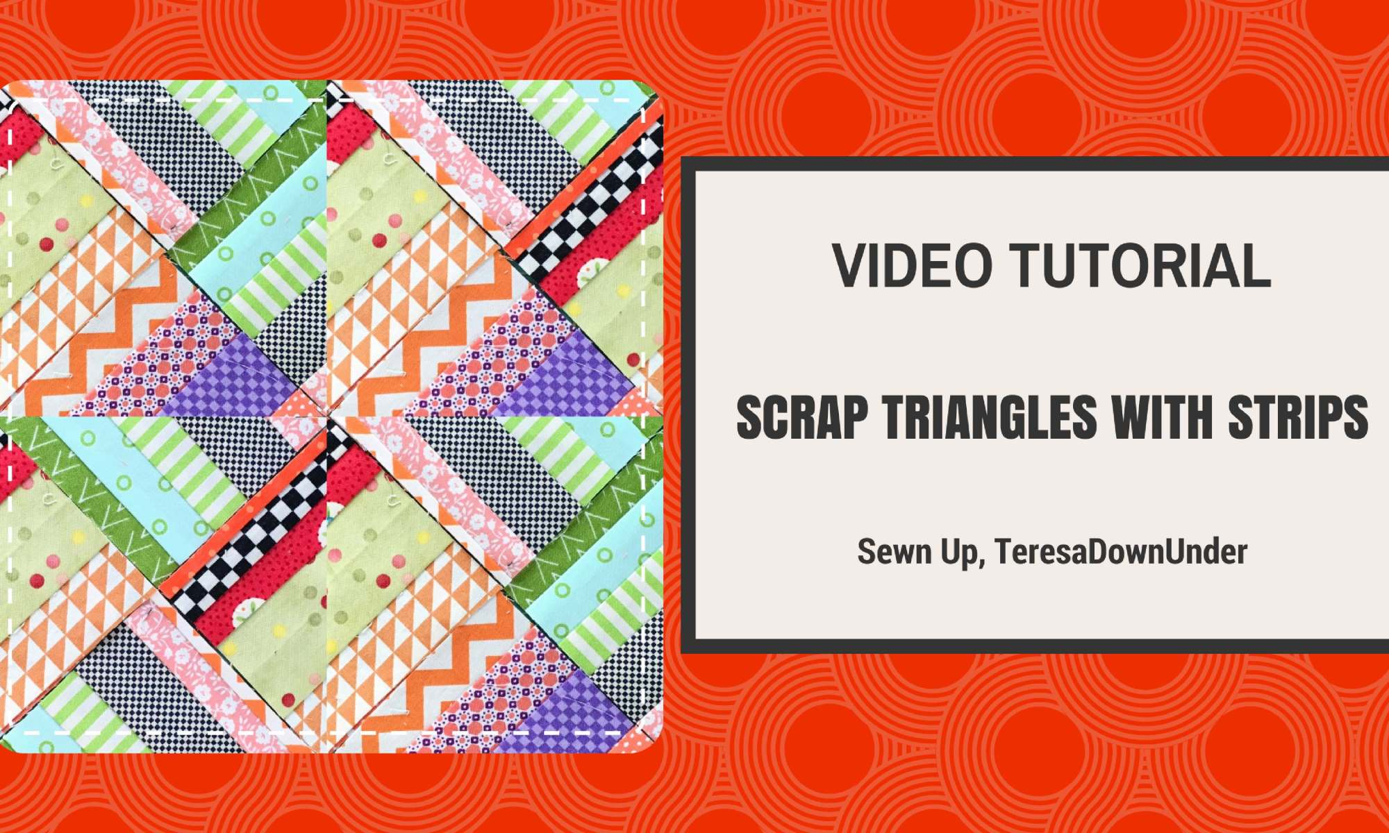Video tutorial: Scrap triangles with strips