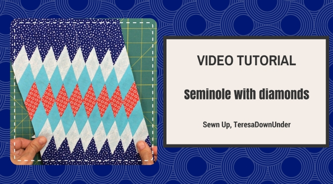 Video tutorial: Seminole with diamonds