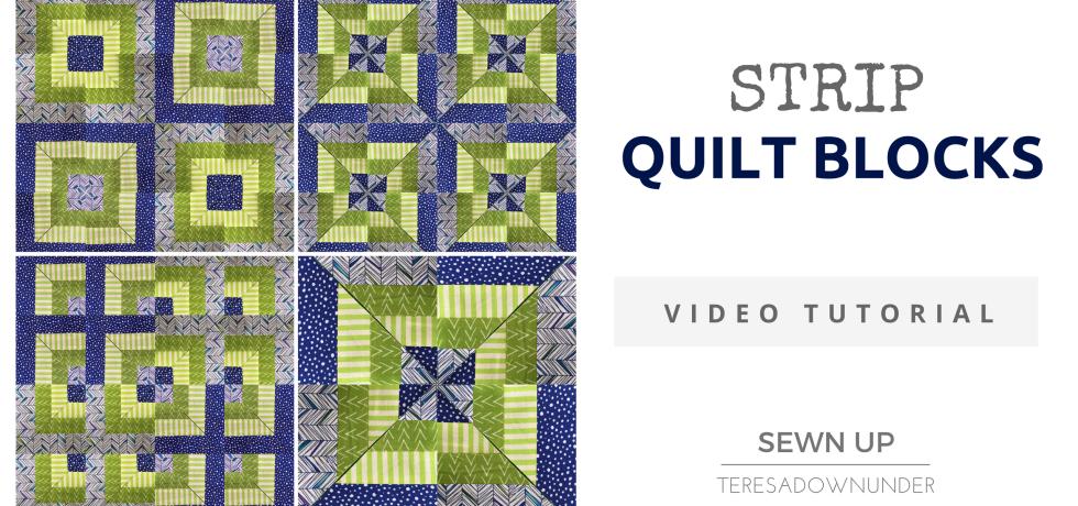 Video tutorial: Strip quilt blocks