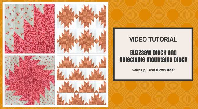 Video tutorial: Buzzsaw block and Delectable mountains block