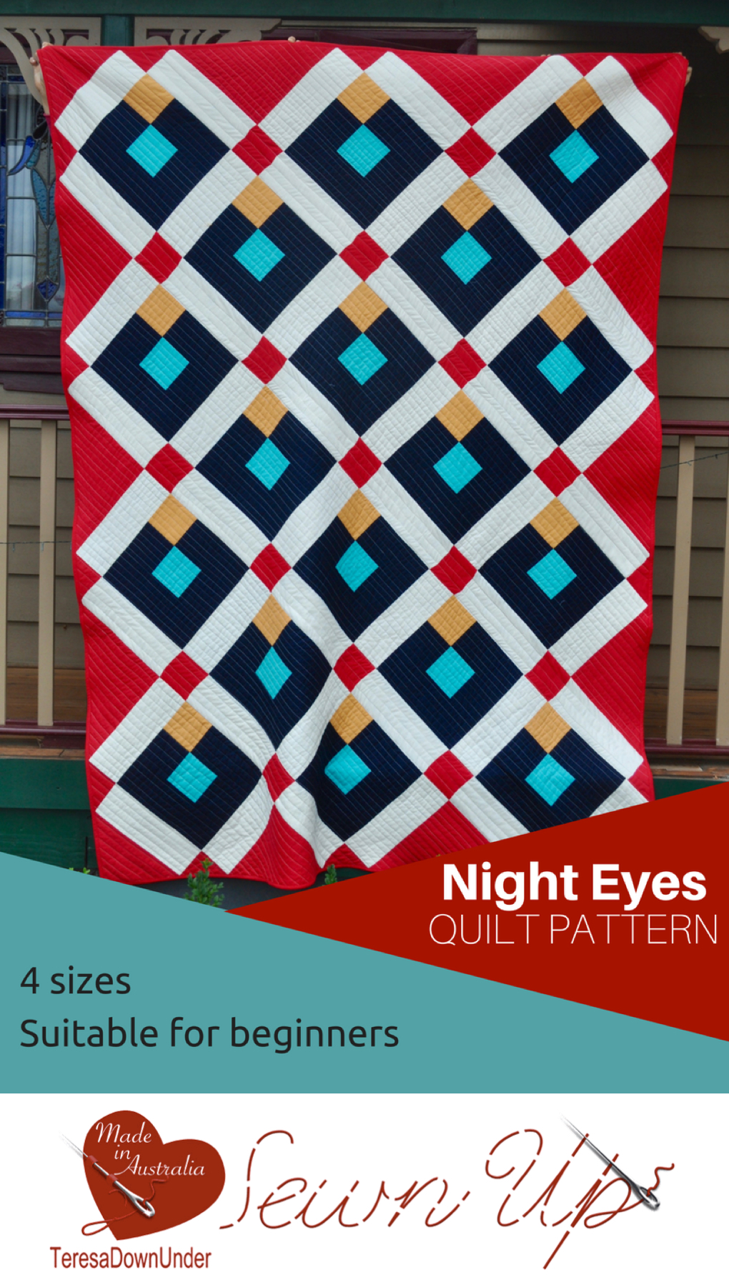 Night eyes quilt pattern for beginners