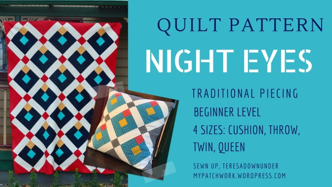 Quilt pattern: Night eyes – PDF download