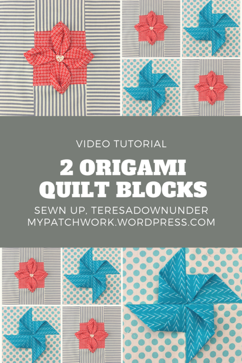 Video tutorial: 2 origami quilt blocks