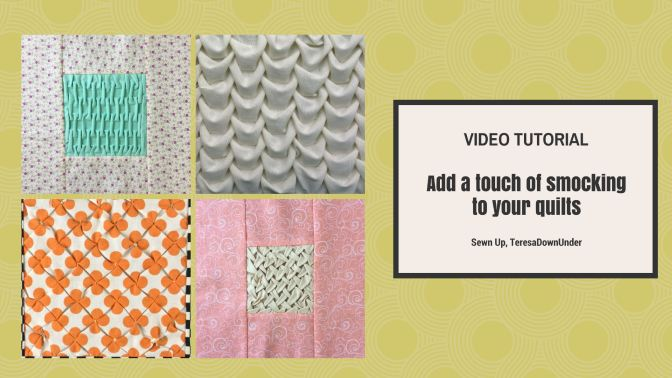 Video tutorial: Add a smocking touch to your quilting
