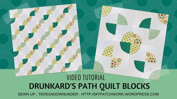 Video tutorial: Drunkard's path quilt block