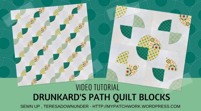 Video tutorial: Drunkard's path quilt block - quick and easy quilting