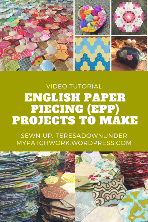 Video tutorial: English paper piecing projects to make