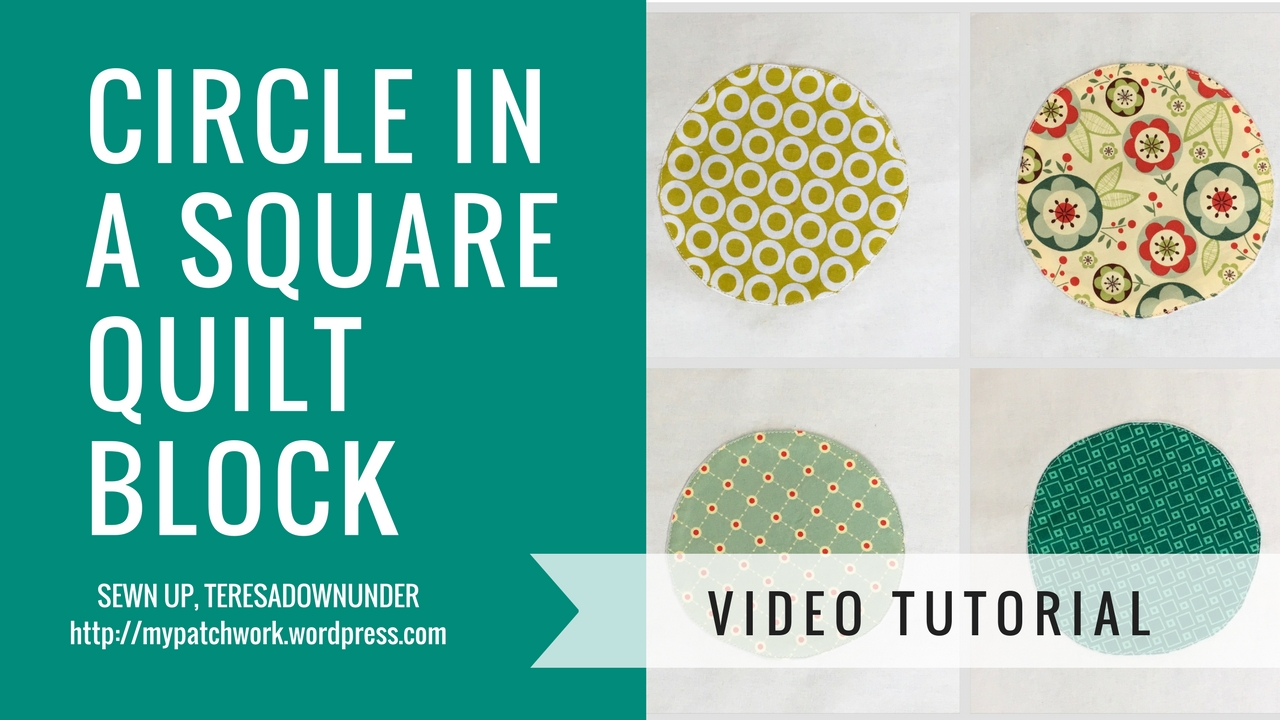 Video tutorial: Circle in a square quilt block - quick and easy quilting