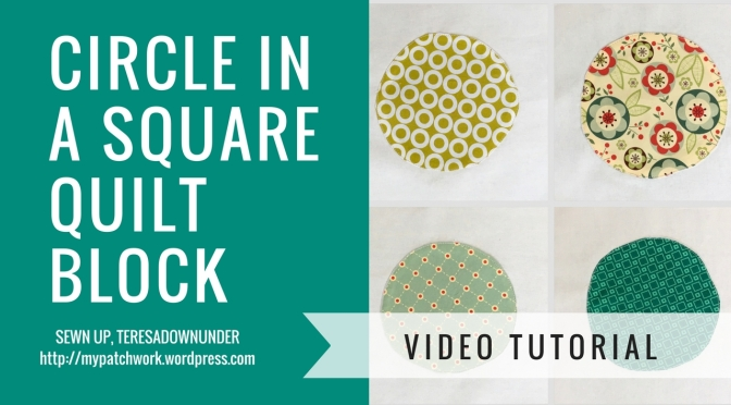 Video tutorial: Circle in a square quilt block