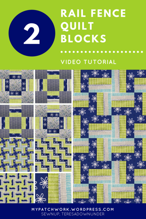 Video tutorial: quick and easy 2 rail fence quilt blocks - quilting for beginners