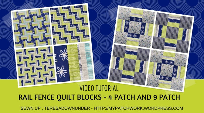 Video tutorial: 2 rail fence quilt blocks