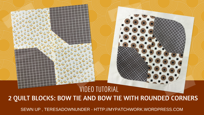 Video tutorial: 2 Bow tie quilt blocks – quick and easy quilting