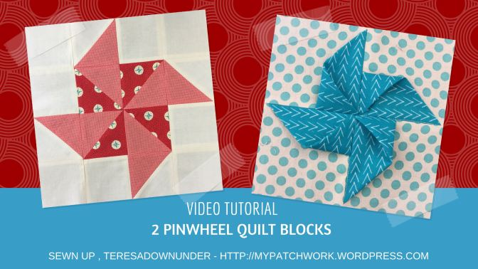 Video tutorial: 2 quick and easy paper pinwheel quilt blocks