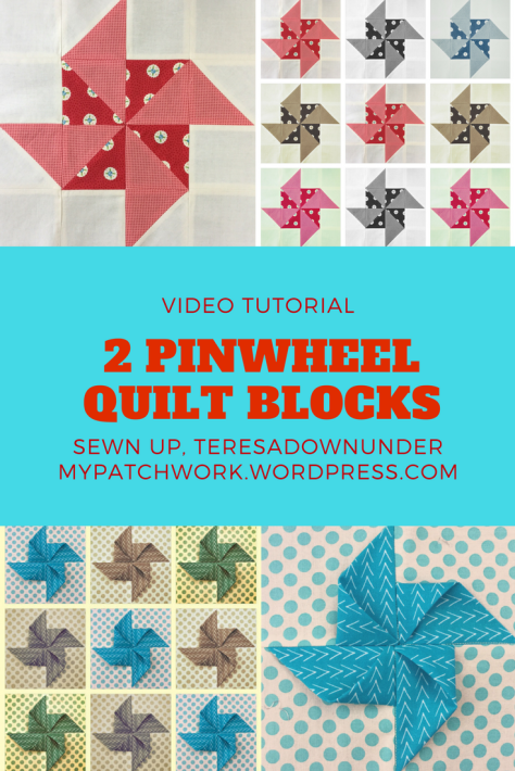 Video tutorial: 2 pinwheel quilt blocks