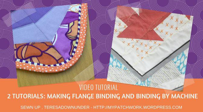 Video tutorial: making flange binding and regular binding by machine