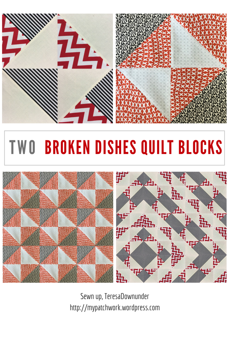 Video tutorial: 2 broken dishes quilt blocks - quick and easy quilting
