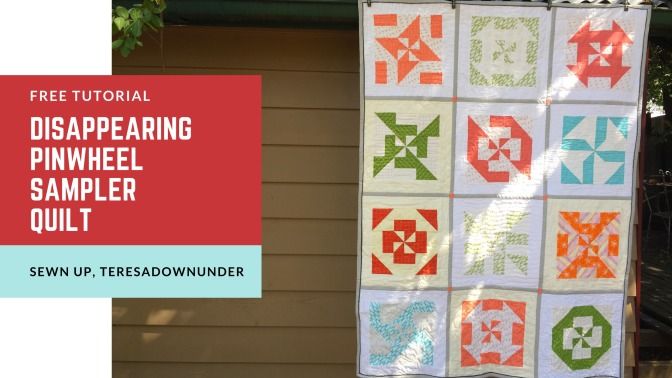 Disappearing pinwheel sampler quilt tutorial