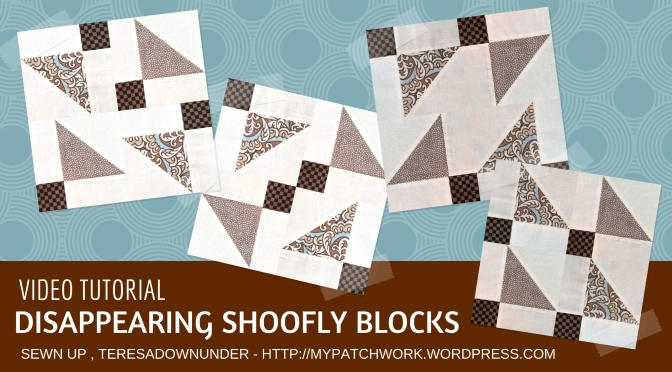 Video tutorial: 4 disappearing variations on a shoofly quilt block