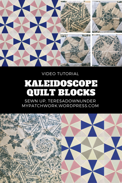 Video tutorial: Kaleidoscope quilt blocks - 2 kinds